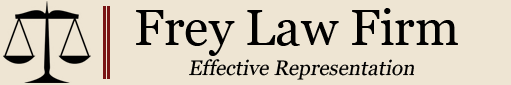 Logo, Frey Law Firm, Civil Law Firm in Terre Haute, IN